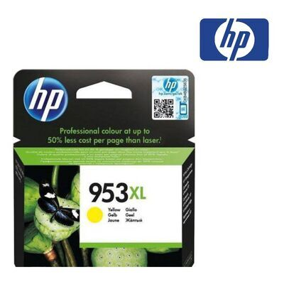 HP 953XL žlutá inkoustová kazeta, F6U18AE - 2